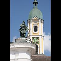 Ochsenhausen, Klosterkirche St. Georg (Hauptorgel), Turm-Detail