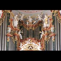 Ochsenhausen, Klosterkirche St. Georg (Hauptorgel), Hauptorgel - Prospektdetail