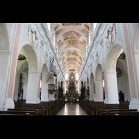 Ochsenhausen, Klosterkirche St. Georg (Hauptorgel), Innenraum / Hauptschiff in Richtung Chor