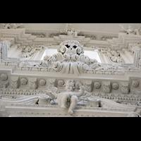 München (Munich), Theatinerkirche St. Katejan, Detail der Portalwand