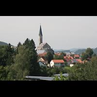 Waldkirchen, St. Peter und Paul (''Bayernwalddom''), Lage in der Landschaft