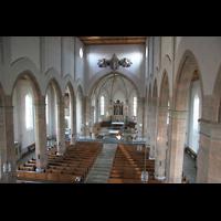 Waldkirchen, St. Peter und Paul (''Bayernwalddom''), Blick von der Orgelempore in die Kirche