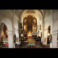Linz, Stadtpfarrkirche, Blick von der Orgelempore in die Kirche