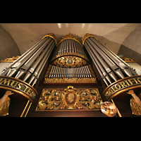 Linz, Stadtpfarrkirche, Orgelprospekt perspektivisch