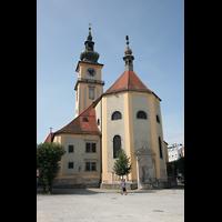 Linz, Stadtpfarrkirche, Ansicht vom Chor aus