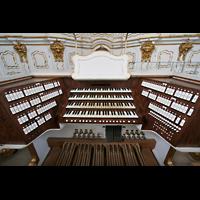 St. Florian (bei Linz), Stiftskirche, Spieltisch der Bruckner-Orgel