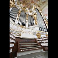 St. Florian (bei Linz), Stiftskirche, Spieltisch und Hauptorgel