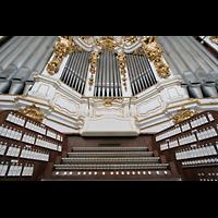 St. Florian (bei Linz), Stiftskirche, Spieltisch und Prospekt der Bruckner-Orgel