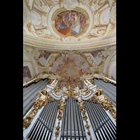 St. Florian (bei Linz), Stiftskirche, Positiv und Orgelprospekt