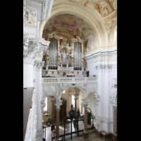 St. Florian (bei Linz), Stiftskirche, Hauptorgel vom Seitenumgang aus