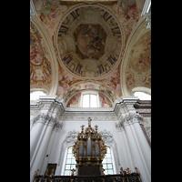 St. Florian (bei Linz), Stiftskirche, Linke Chororgel und Deckengemälde