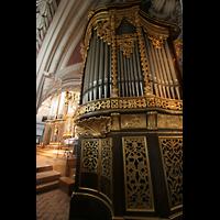 Passau, Dom St. Stephan, Evangelienorgel mit Blick zur Hauptorgel