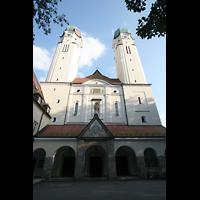 Vilshofen (Schweiklberg), Benediktinerabtei St. Trinitatis, Doppelturmfassade