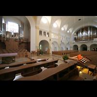 Vilshofen (Schweiklberg), Benediktinerabtei St. Trinitatis, Rechte Chororgel, Hauptorgel und Spieltisch