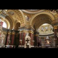 Budapest, Szent István Bazilika (St. Stefan Basilika), Innenraum der Basilika