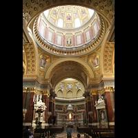 Budapest, Szent István Bazilika (St. Stefan Basilika), Hauptschiff und Kuppel
