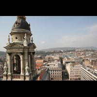 Budapest, Szent István Bazilika (St. Stefan Basilika), Blick zum Berg der Matthiaskirche und Vérmezö