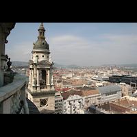 Budapest, Szent István Bazilika (St. Stefan Basilika), Blick zum Parlament