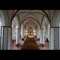 Gransee, Ev. Stadtkirche St. Marien, Innenraum von der Orgel aus