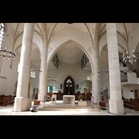 Dülmen, St. Viktor, Innenraum in Richtung Rückwand