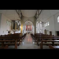 Dülmen, St. Viktor, Innenraum in Richtung Chor