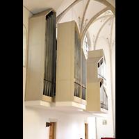 Dülmen, St. Viktor, Orgel von den Kirchenbänken im Hauptschiff aus gesehen