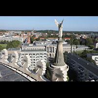 Potsdam, St. Nikolai (Hauptorgel), Blick von der Kuppel zur Propsteikirche St. Peter und Paul