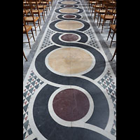 Potsdam, Friedenskirche am Park Sanssouci, Marmor-Bodenmosaiken im Hauptschiff