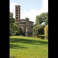 Potsdam, Friedenskirche am Park Sanssouci, Außenansicht von der Schopenhauerstraße aus gesehen