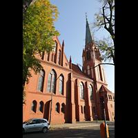 Berlin (Zehlendorf), Pauluskirche (Bach-Orgel), Außenansicht von der Seite