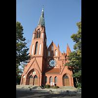 Berlin (Zehlendorf), Pauluskirche (Bach-Orgel), Fassade mit Turm