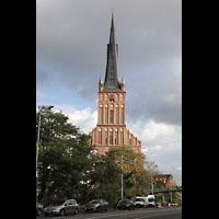 Szczecin (Stettin), Katedra sw. Jakuba (Jakobskathedrale), Kathedrale von der Ksiedza Kardynala Stefana Wyszynskiego aus gesehen