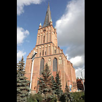 Szczecin (Stettin), Katedra sw. Jakuba (Jakobskathedrale), Außenansicht von vorne