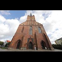 Szczecin (Stettin), Katedra sw. Jakuba (Jakobskathedrale), Fassade mit Turm