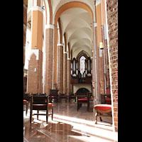 Szczecin (Stettin), Katedra sw. Jakuba (Jakobskathedrale), Blick vom Altarraum in Richtung Hauptorgel