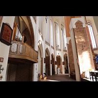 Szczecin (Stettin), Katedra sw. Jakuba (Jakobskathedrale), Linker seitlicher Chorumgang mit Chororgel