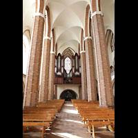 Szczecin (Stettin), Katedra sw. Jakuba (Jakobskathedrale), Innenraum in Richtung Hauptorgel