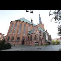 Szczecin (Stettin), Katedra sw. Jakuba (Jakobskathedrale), Chor und Seitenansicht von außen