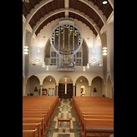 Stuttgart, St. Fidelis, Orgel (ohne Beleuchtung)