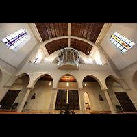 Stuttgart, St. Fidelis, Orgelempore perspektivisch