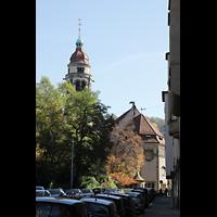 Stuttgart, Markuskirche, Außenansicht von der Römerstraße aus