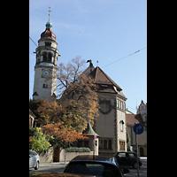 Stuttgart, Markuskirche, Außenansicht mit Turm