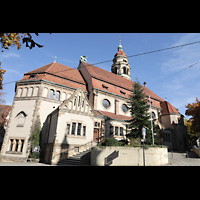 Stuttgart, Markuskirche, Außenansicht von der Seite