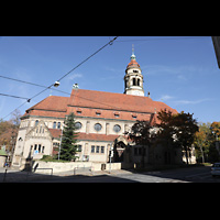 Stuttgart, Markuskirche, Außenansicht von der Filderstraße aus
