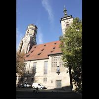 Stuttgart, Stiftskirche (Hauptorgel), Außenansicht von der Kirchstraße aus