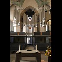 Stuttgart, Stiftskirche (Chororgel), Innenraum in Richtung Hauptorgel