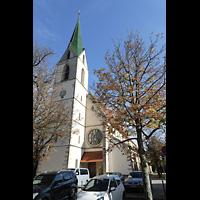 Rottenburg (Neckar), St. Moritz, Außenansicht mit Fassade und Turm
