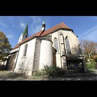 Rottenburg (Neckar), St. Moritz, Chor und Seitenschiff von außen