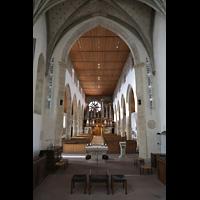Rottenburg (Neckar), St. Moritz, Hauptschiff in Richtung Orgel