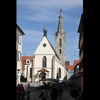 Rottenburg, Dom St. Martin, Außenansicht vom Marktplatz aus